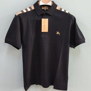Burberry London Navy Blue Polo Shirt For Men